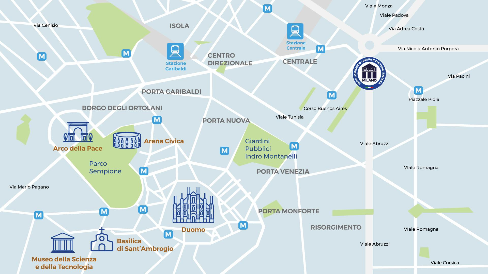 mappa scuola Ellci